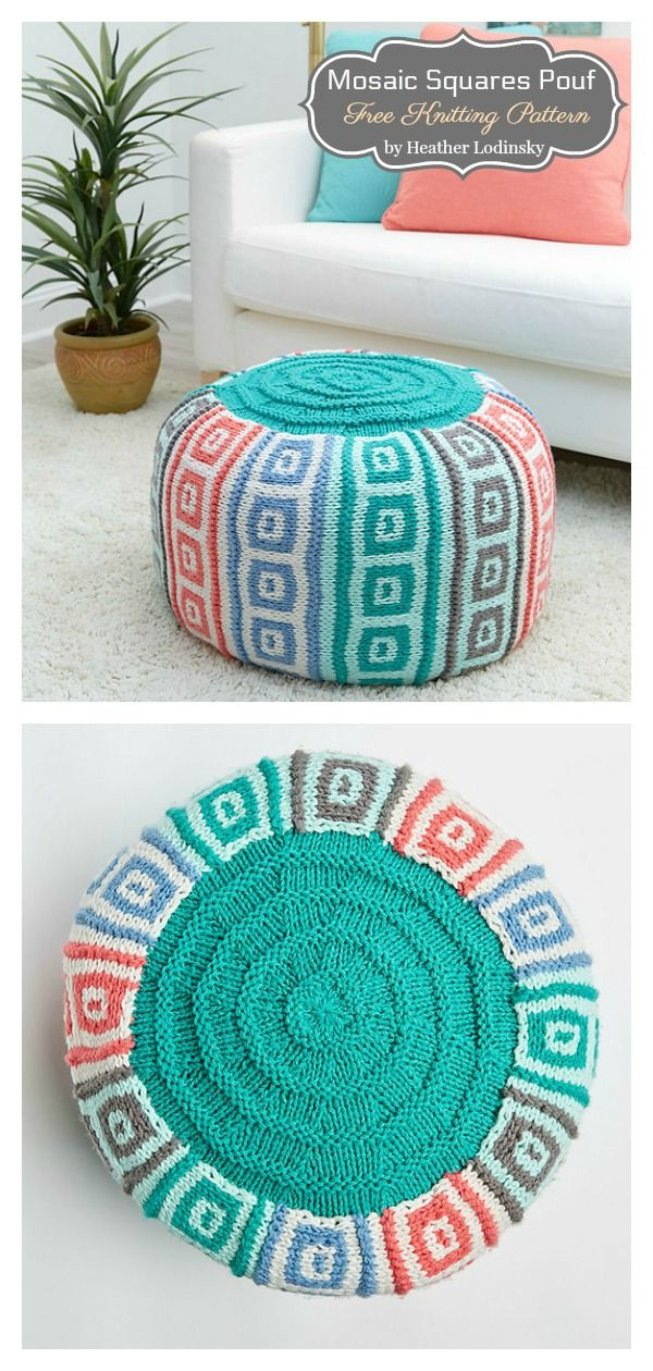 10 Floor Pouf Free Knitting Pattern and Paid in 2020 ...