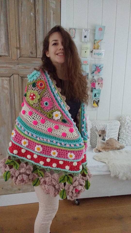 Love bordado en mariposa | Shawls | Pinterest | Mariposas, Bordado y ...