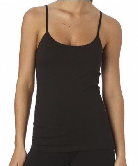 d85ff5e1132c4d Organic Cotton Cami. Women s Everyday Black Shelf-Bra Camisole