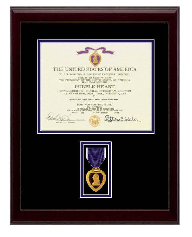 Purple Heart Certificate Frame | Pinterest