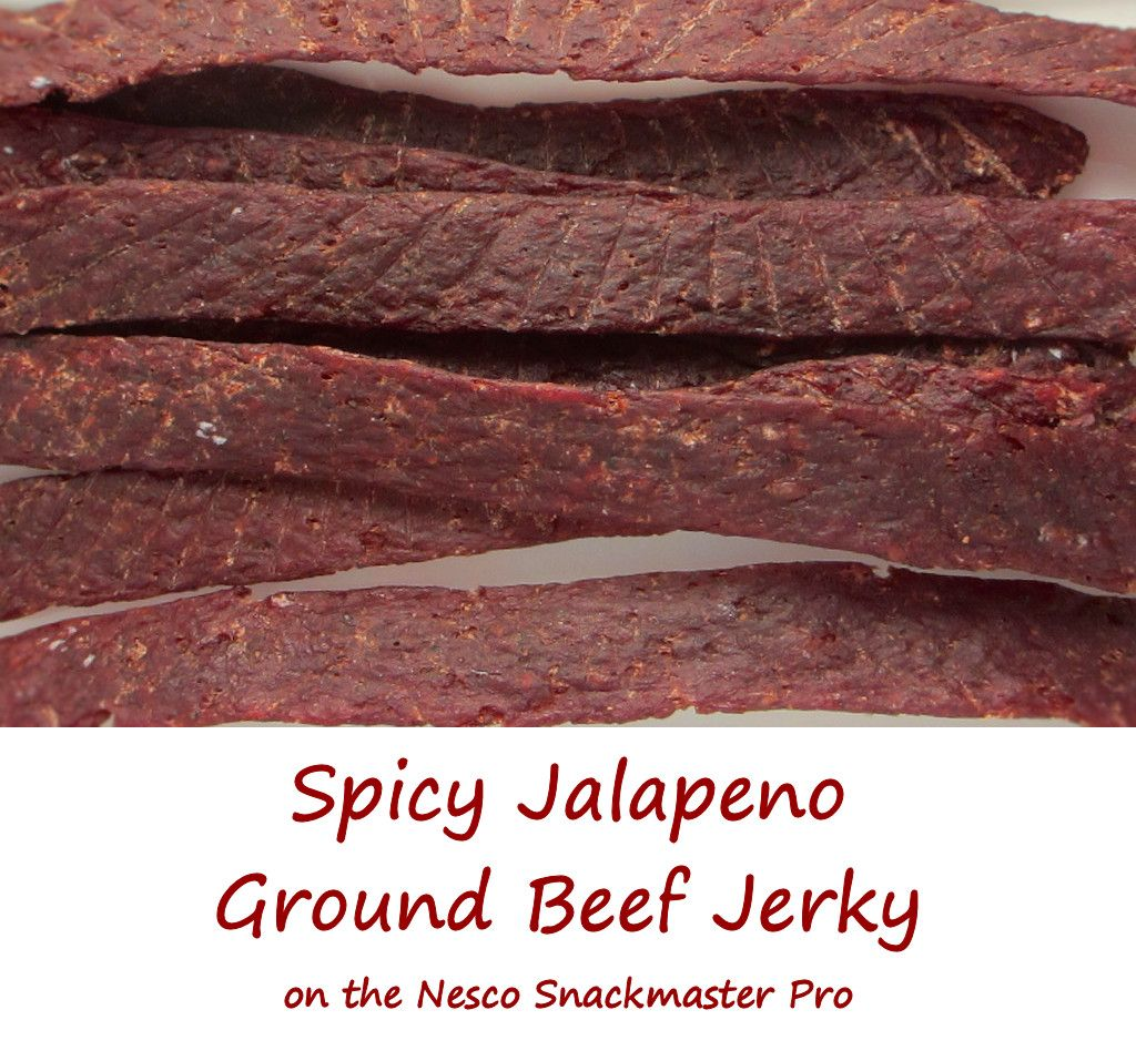 Spicy Jalapeno Ground Beef Jerky On The Nesco Snackmaster Pro Life S A Tomato Ripen Up Your Life Recipe Beef Jerky Ground Beef Jerky Recipe Ground Beef Recipes Easy
