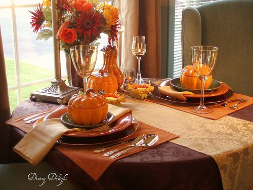 Brown tablecloth decorations dining delight fall decor