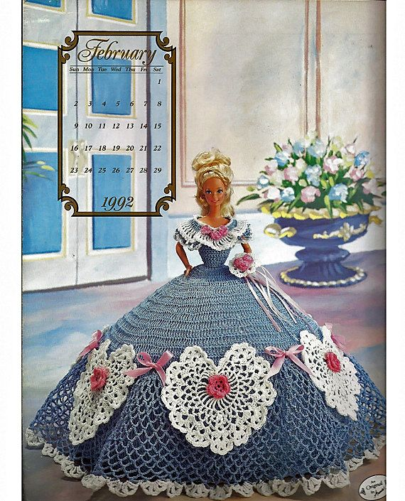 February 1992 ~ fits Barbie dolls Annie/'s Cotillion crochet pattern booklet NEW