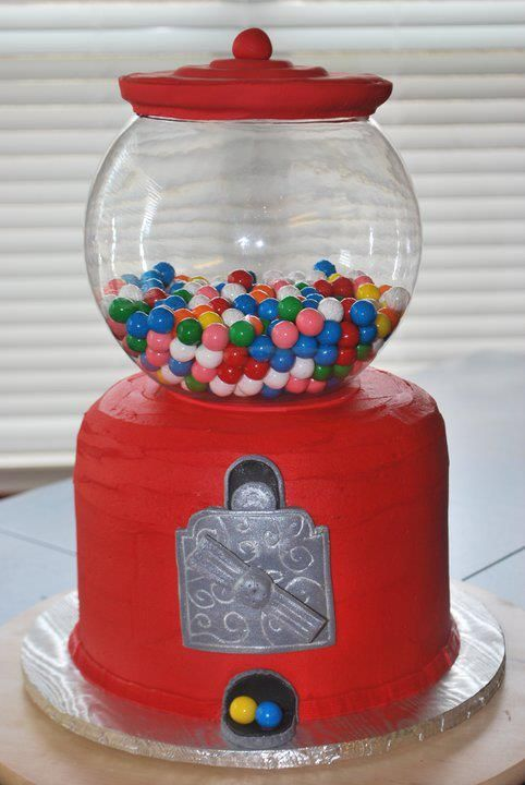 Buttercream gumball cake by Sweeten Up Bake Shop Austin Cedar Park