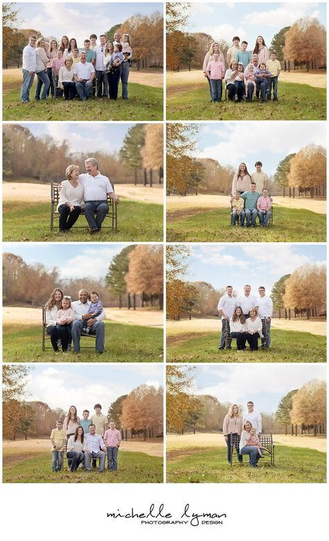 Outdoor Family Portraits and Extended Family Portraits - Greensboro, NC Photographer - Michelle Lyman Photography Design #extendedfamilyphotography