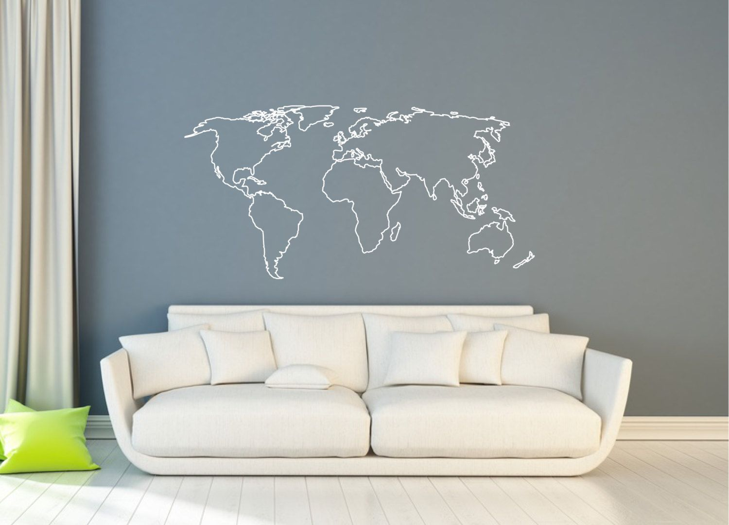 World map wall sticker design map of countries wall decal wall world map wall sticker design map of countries wall decal wall travel decor adventure wall art with location pins white grey black by gumiabroncs