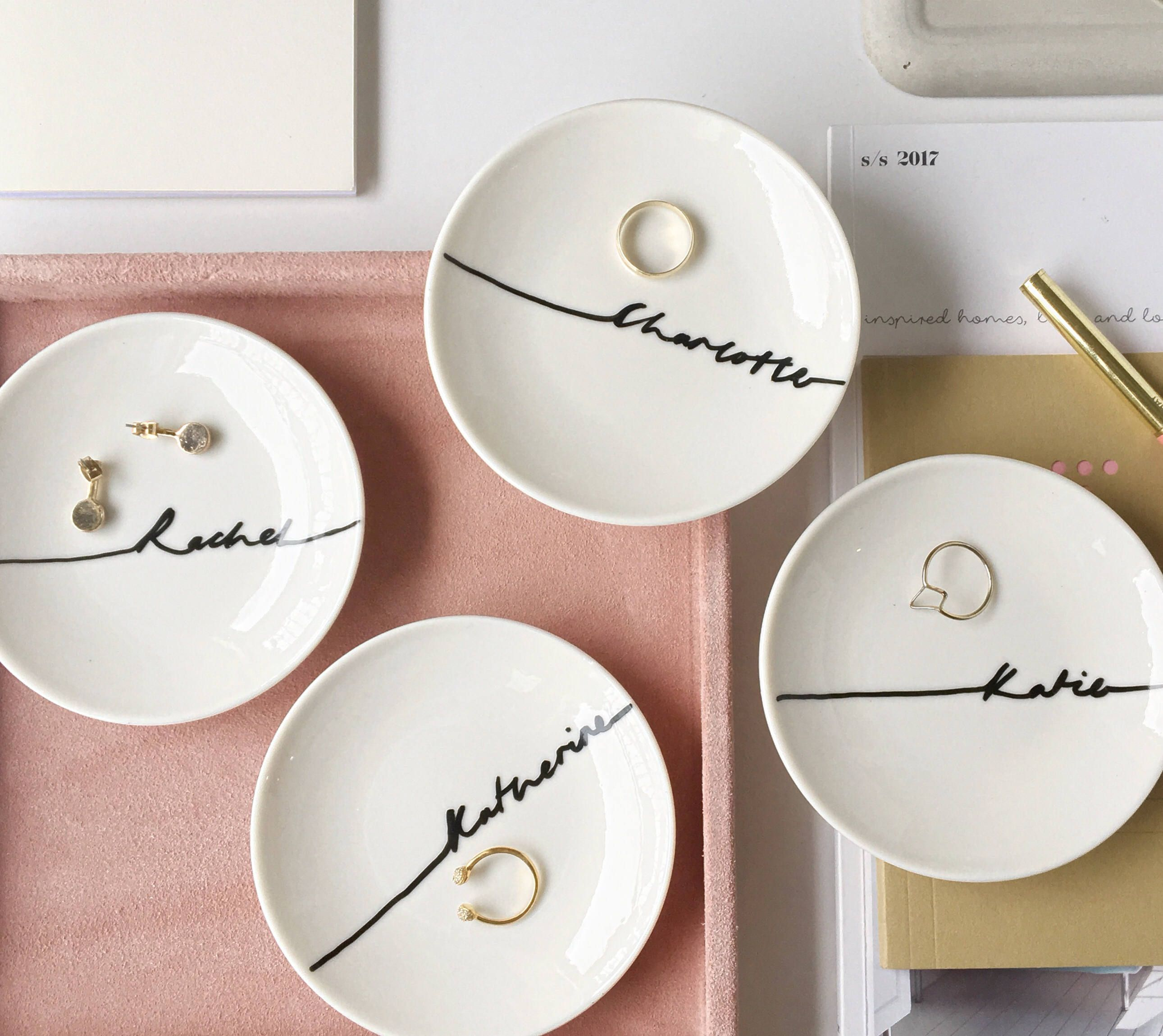 Nice Wedding Gift Ideas: A Personalized Jewelry Dish Is A Great Way To Say Thank