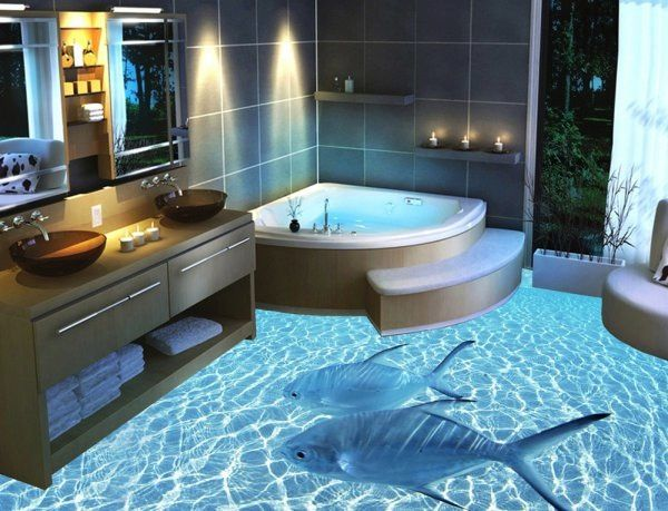 13 3d Bathroom Floor Designs That Will Mess With Your Mind Ocean