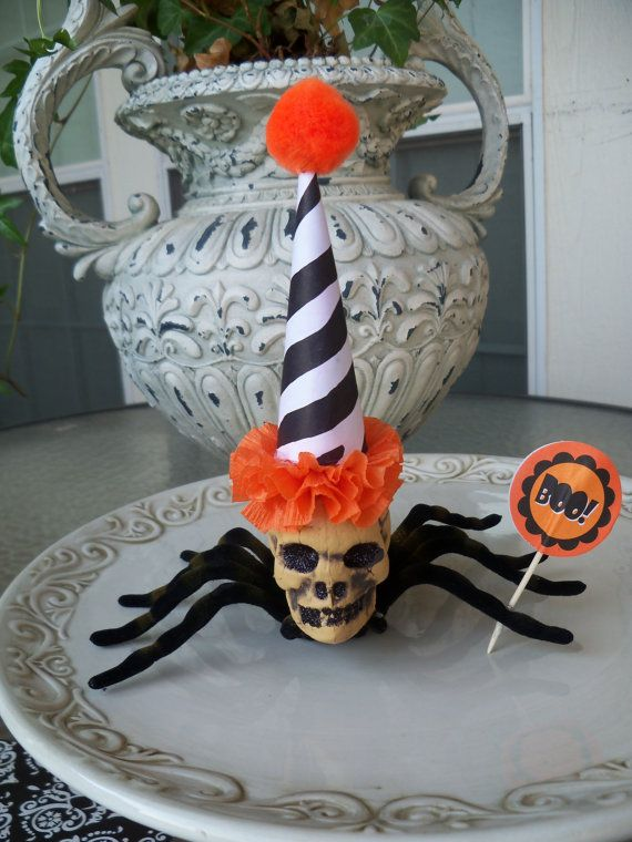 Skeleton Head Spider A Creepy Halloween Decoration by JeanKnee, $6.25