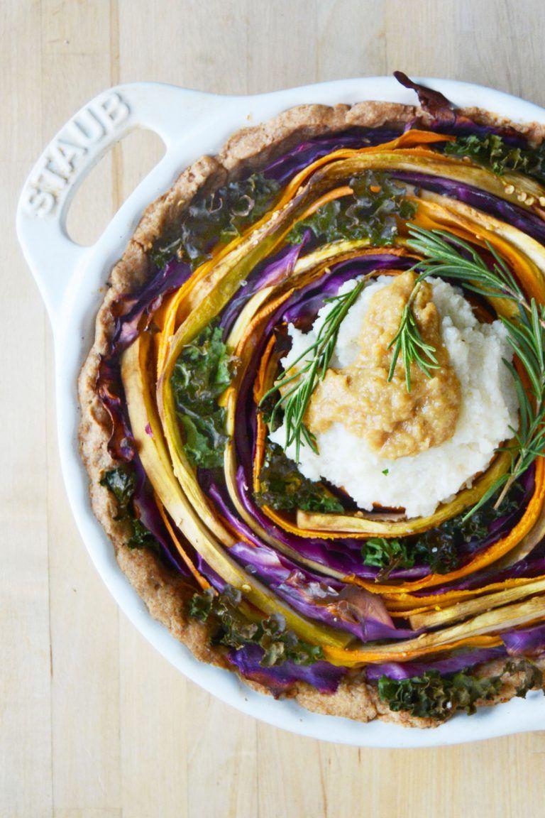 Vegan Spiral Thanksgiving Tart The Colorful Kitchen Recipe Vegetarian Dinner Party Vegan Dinner Party Vegetarian Thanksgiving Recipes