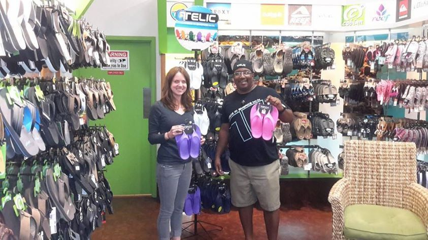 Flip Flop Shop In the Coastal Grand Mall Mrtyle Beach stop by and ask for shop manager Viking Johnson ..she will be happy to fit you in a pair of Telics