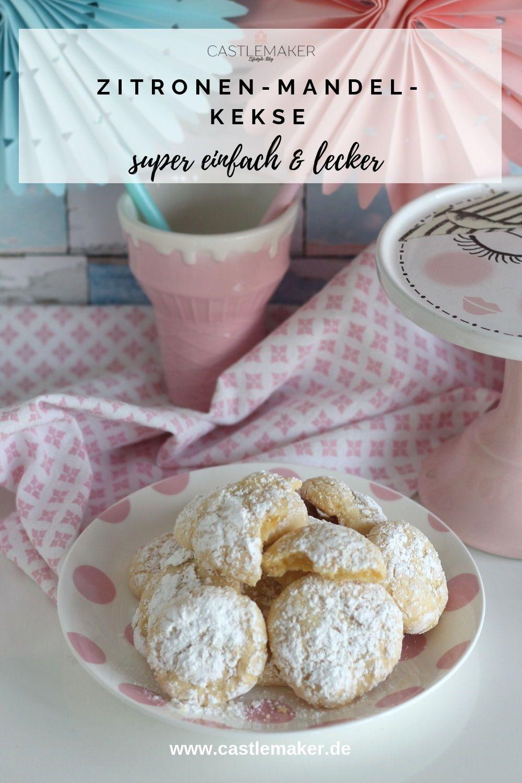 Einfaches Rezept für softe Zitronen-Mandelkekse - Wölkchenkekse #recipeforpuffpastry