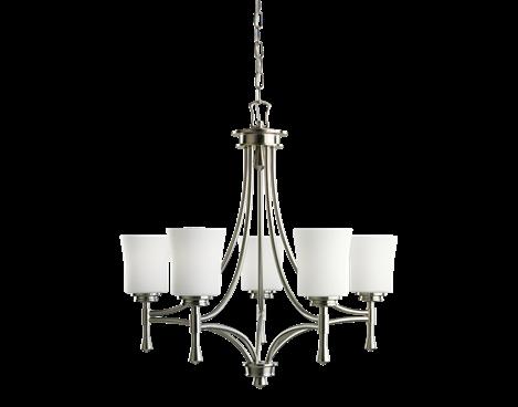 5 light Chandelier in Brushed Nickel - Wharton Collection - Kichler Lighting - pendant, ceiling, landscape light fixtures & more