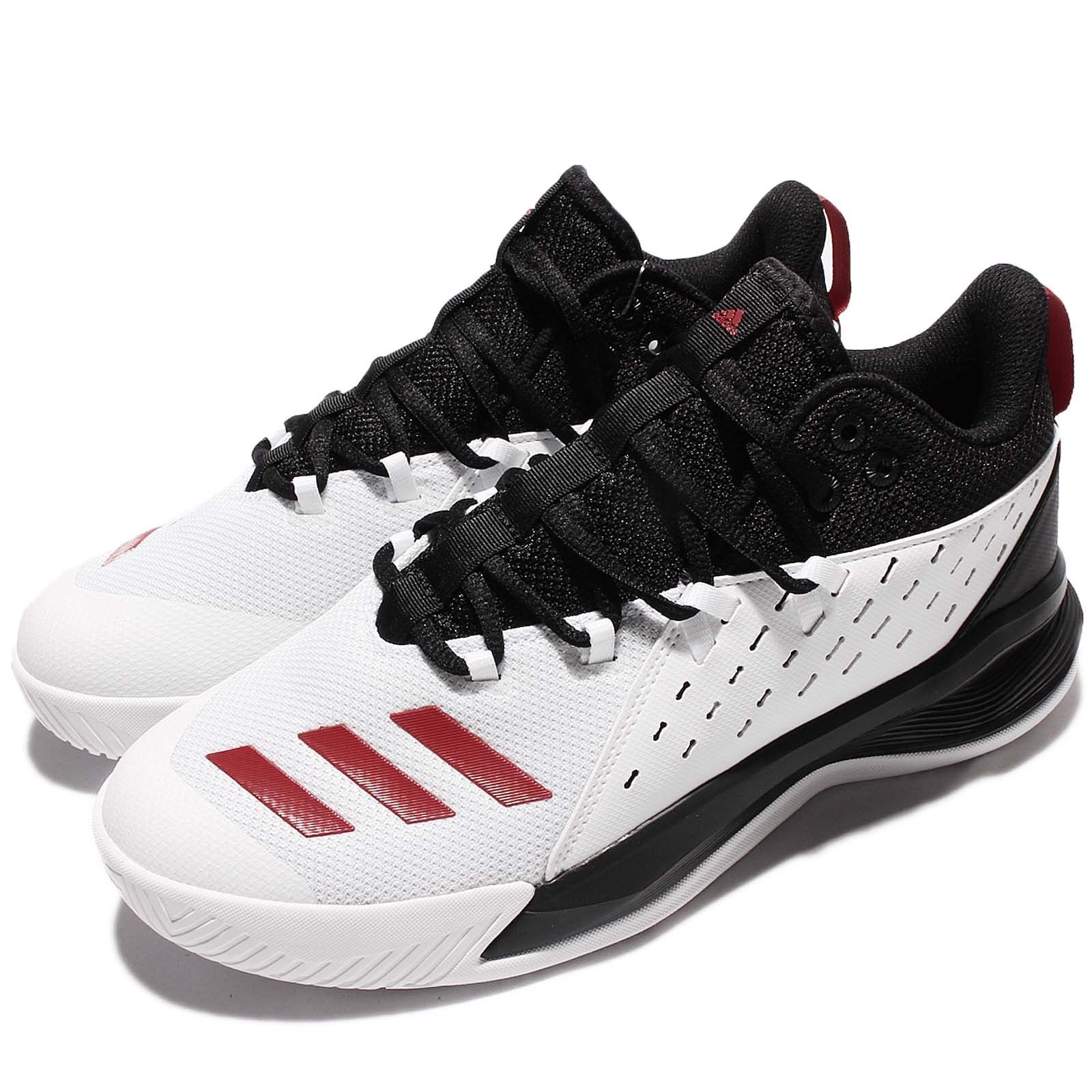 50% Off adidas Street Jam 3 White Black Red Men Basketball Shoes Sneakers  B49510