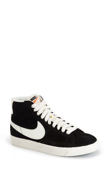 black nike blazers high womens