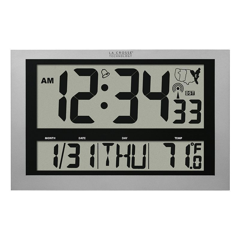 La Crosse Technology Radio Controlled Wall Clock Grey La Crosse