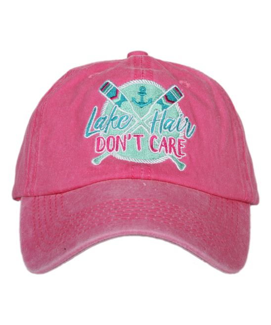 hot pink leather baseball cap suede polo mint lake hair don care