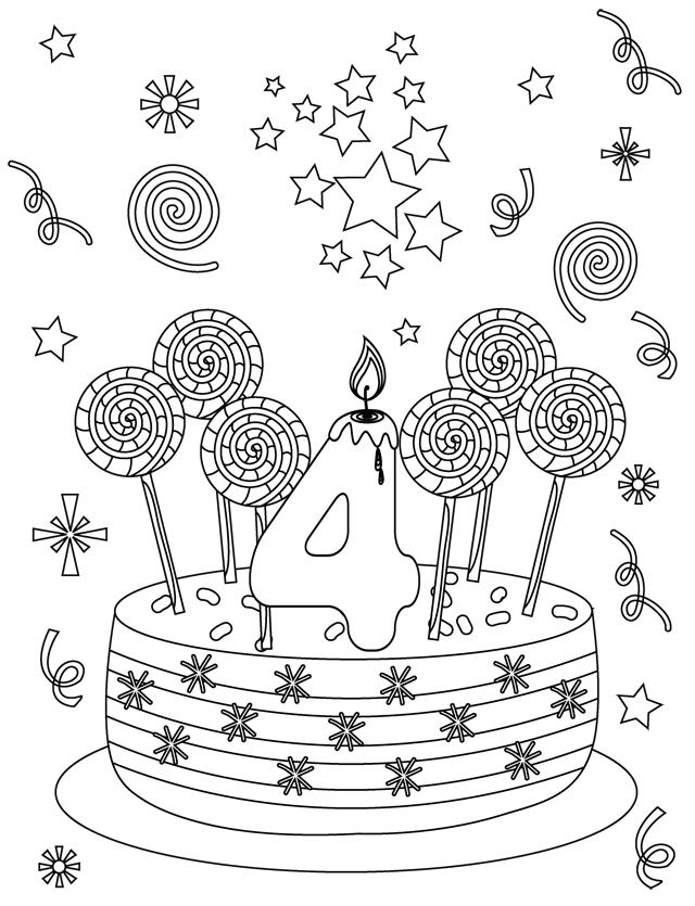 coloriage anniversaire carte