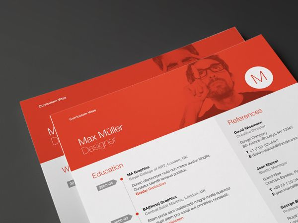 Our latest resume template has just been released The classic - resume header