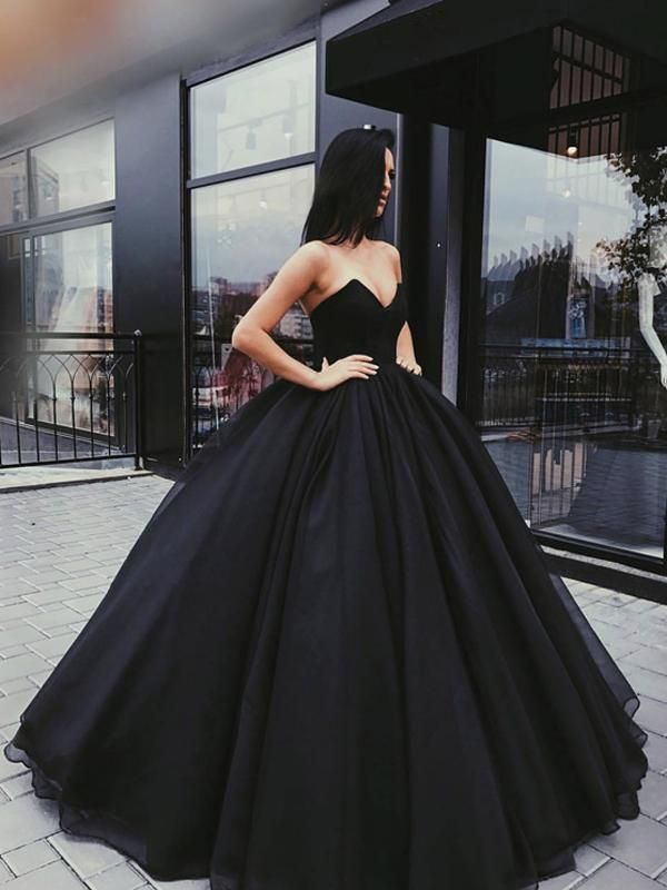 d80c443e1007 2018 Black Prom Dress Sweetheart Simple Long Cheap Prom Dress/Evening Dress  # VB553