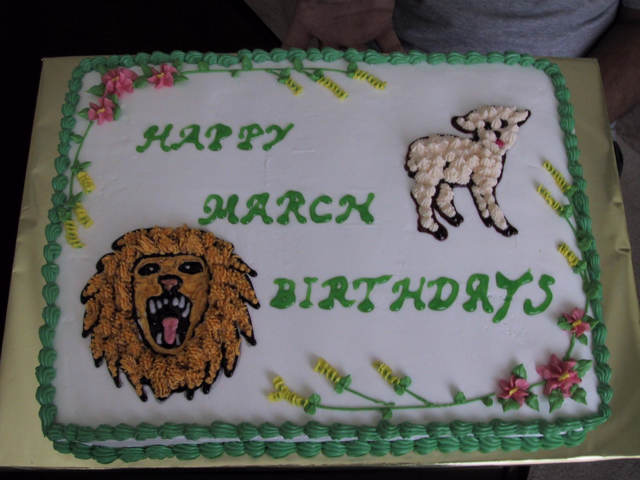 March birthday's cake for a client.