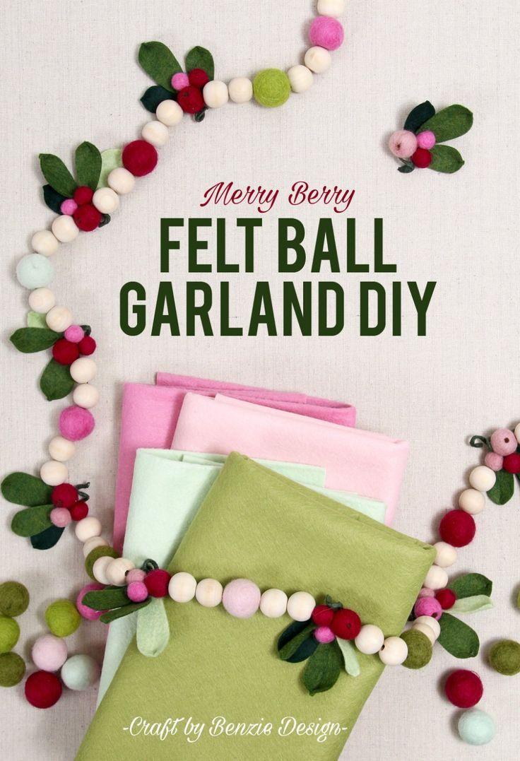 Merry Berry Christmas Garland Diy In 2020 Diy Christmas Garland