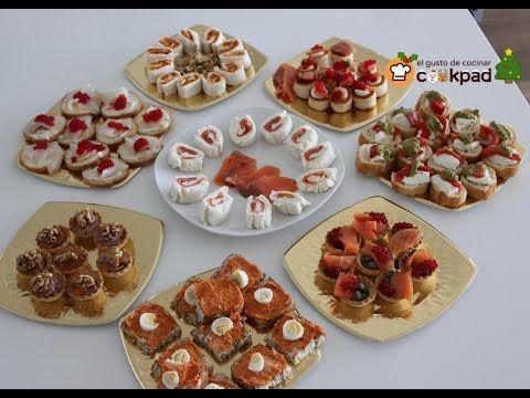 Canapes Faciles Variados Para Nochebuena Y Nochevieja Aperitivos Salados Tapas Y Aperitivos Canapes Faciles