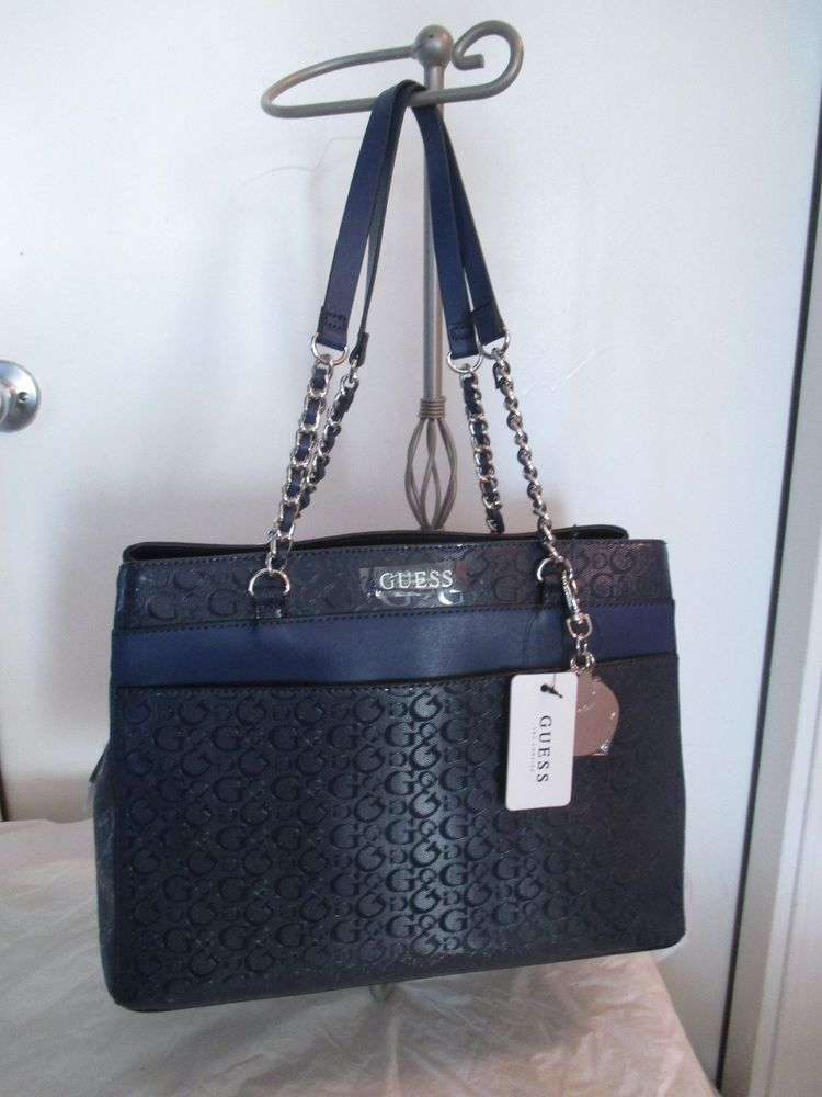 New Handbag Guess Satchel Color Blue Style SG679807 Group Adina New with  Tags  GUESS  Satchel 1facf0527ef89