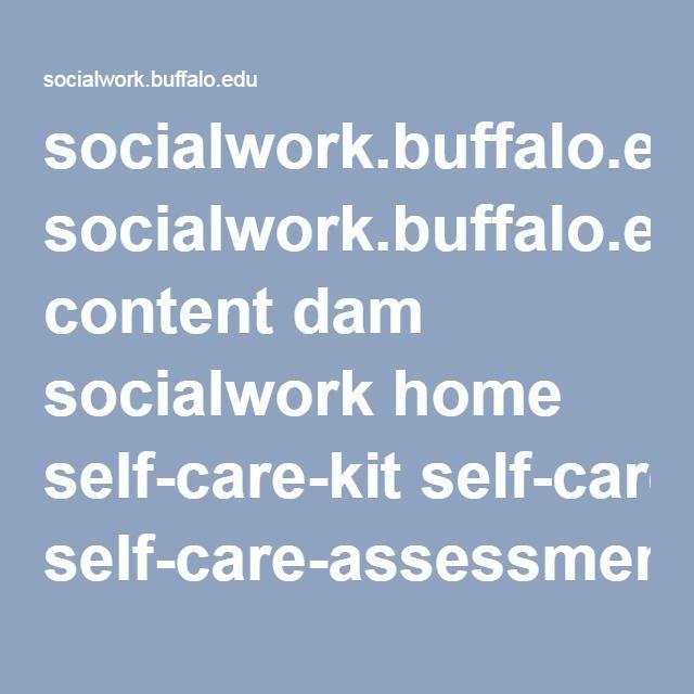socialworkbuffaloedu content dam socialwork home self-care-kit