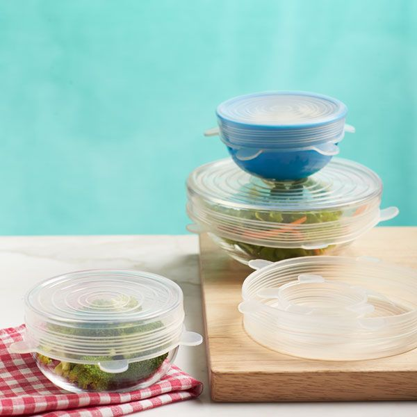 OUNLIFE Silicone Lids ,Fit for your Containers,Mugs,Mason Jars And Bowls,Great For Keeping Food And Drinks Fresh #lids #silicone #cover #mug #bowl #art #clean #fresh #food #cold #yummy #fruit #home #kithchen