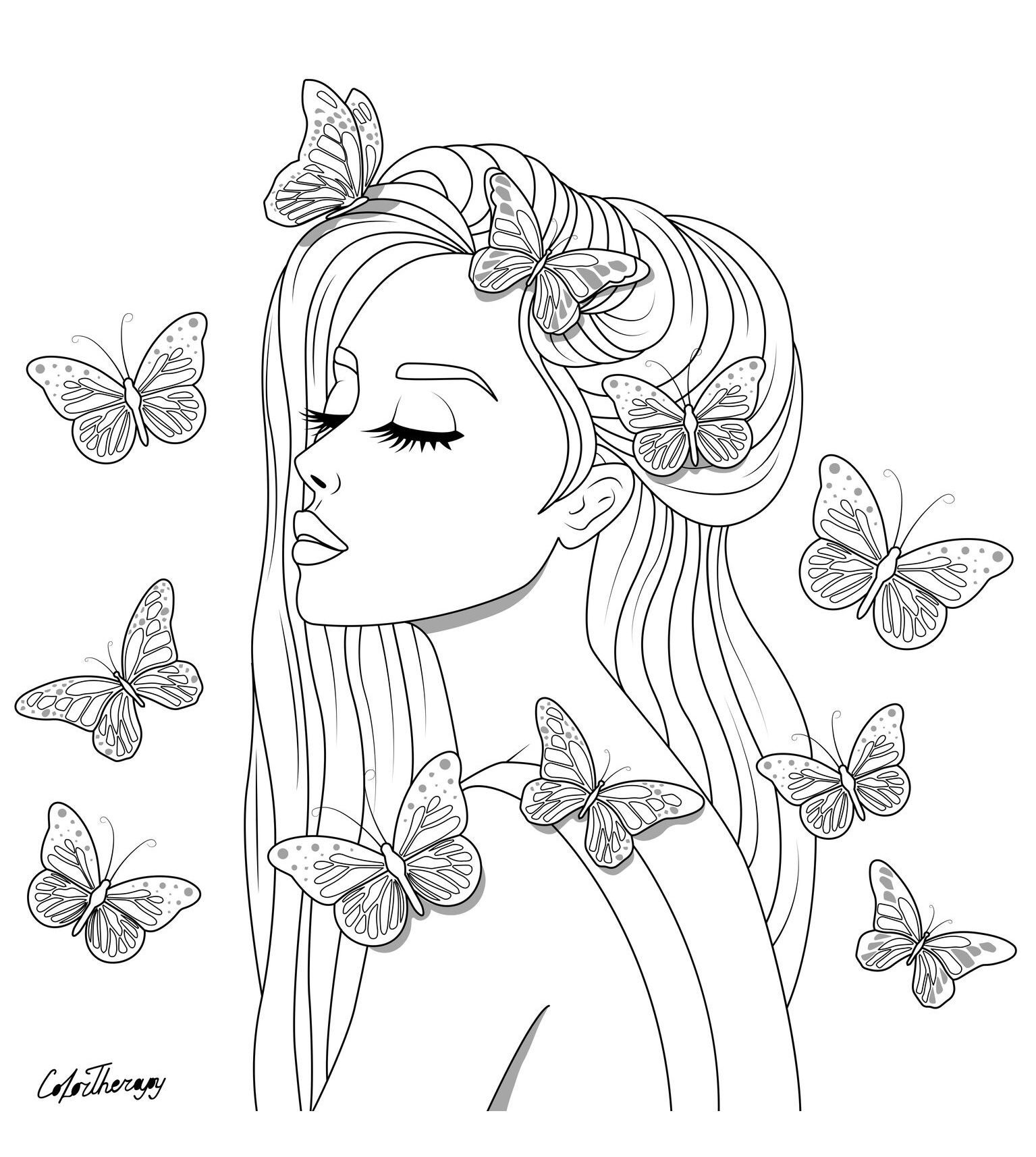 Pin by Color Therapy App on Color Therapy Coloring Pages