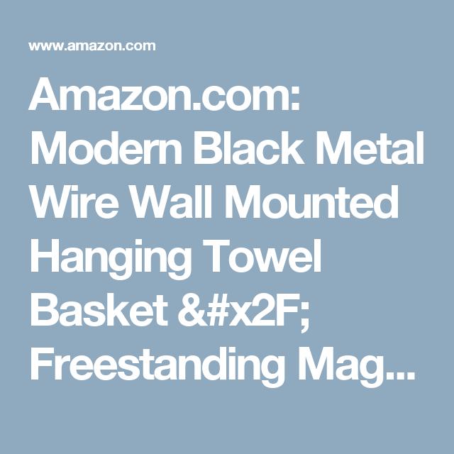 Amazon.com: Modern Black Metal Wire Wall Mounted Hanging Towel ...