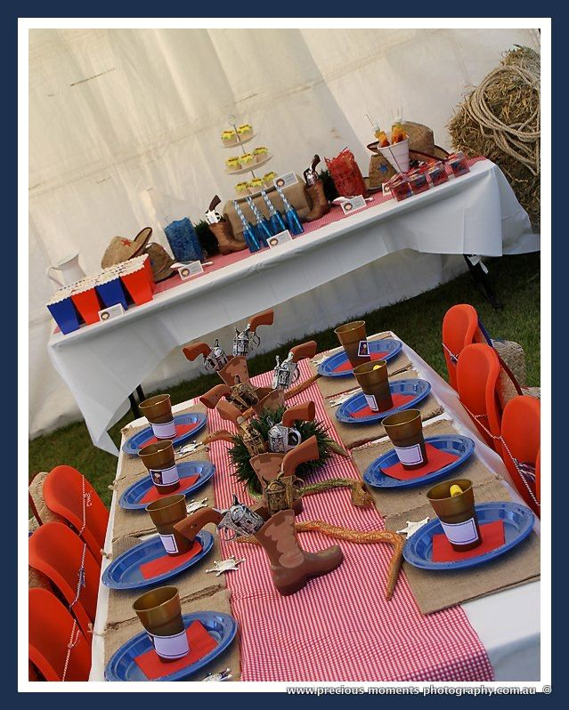 Cowboy Themed Party with Matching Dessert Buffet  www.sassykidsparties.com.au