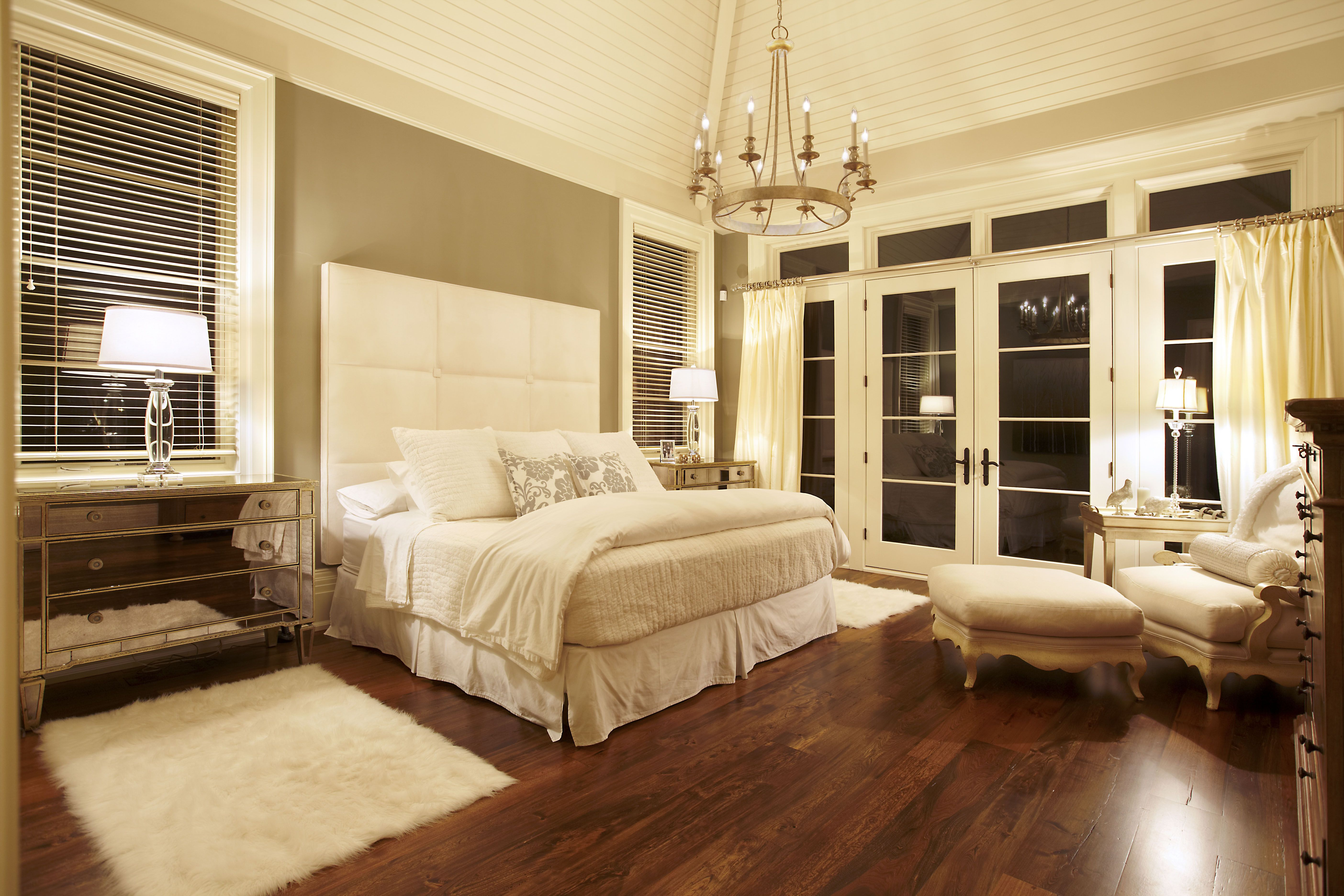 A transitional style master bedroom by parkyn design www - Transitional style bedroom furniture ...