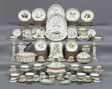 Flora Danica Porcelain Dinner Service 119 piece ~ Crafted by Royal Copenhagen each piece is hand-painted with one of Denmark\u0027s native plants ~ antiques ... & Rare Porcelain European Porcelain Flora Danica Porcelain Dinner ...