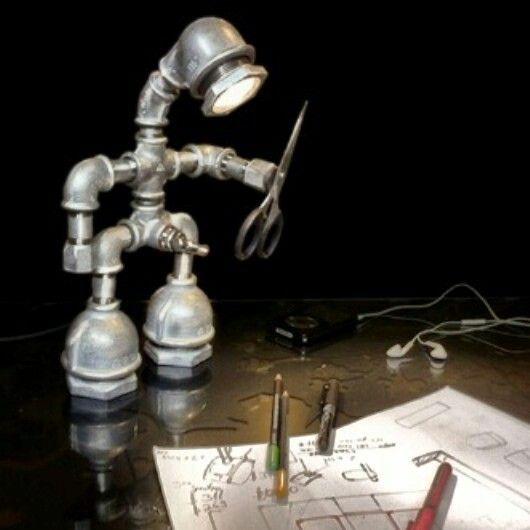 Metal Pipe Man Lamp Do It Yourself Pinterest Pipes