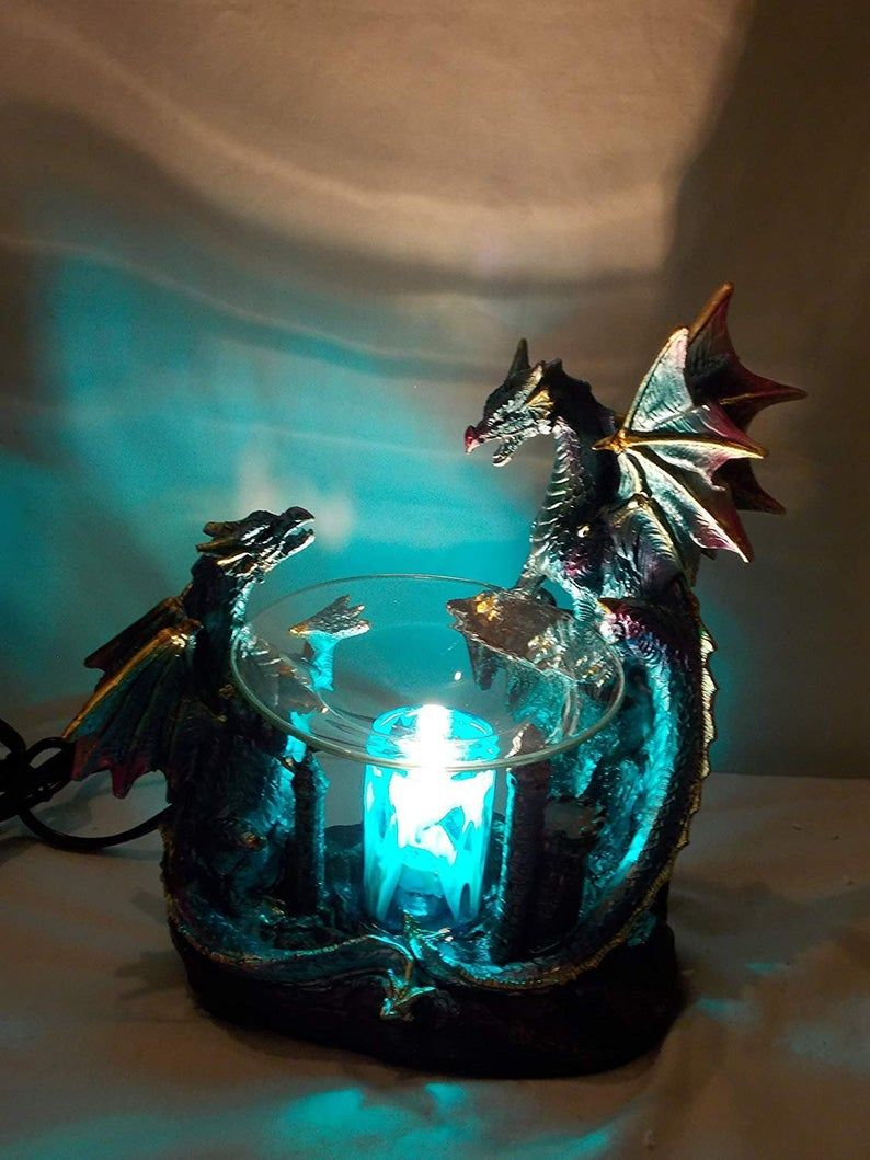 Dragon polyresin oil warmer with dimmer 2020 oil