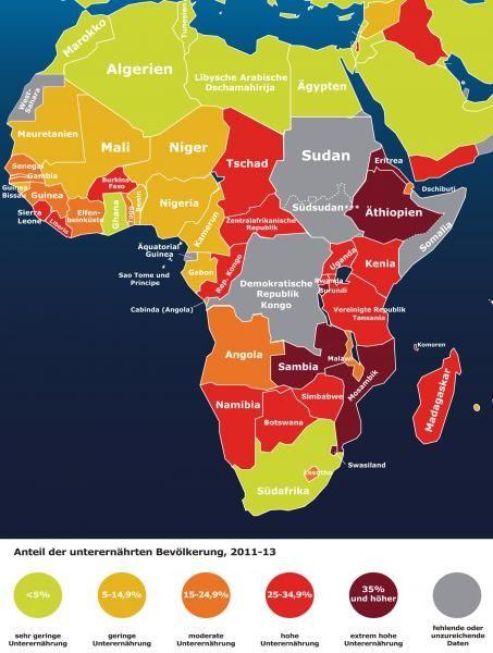 Ubersicht Karte Hunger In Afrika Afrika Karte Afrika Sambia