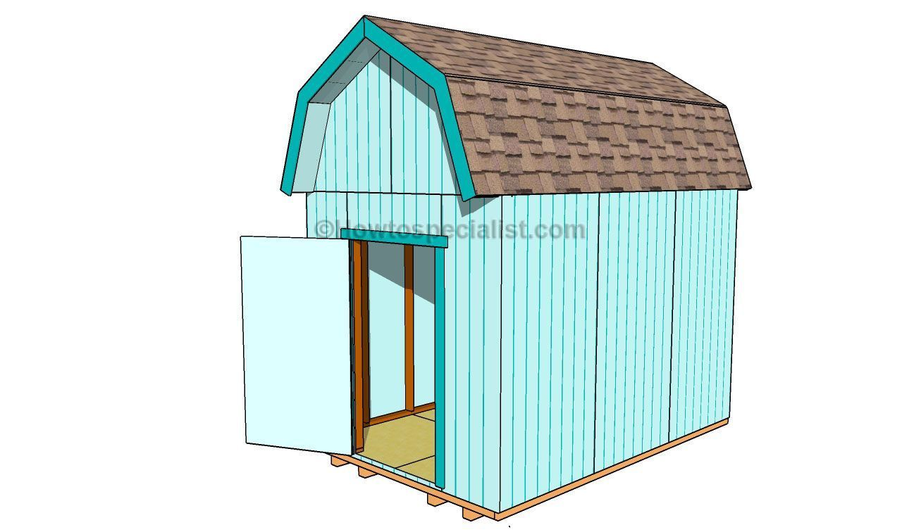 How To Build A Gambrel Shed Roof Buildingashed Diy Shed Plans Gambrel Roof Wood Shed Plans
