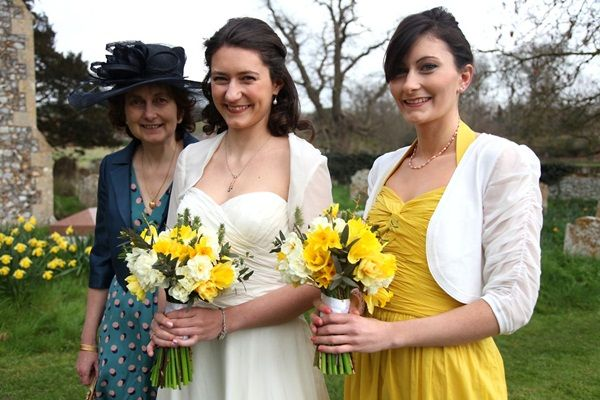 a daffodil wedding with flowers by bouquets and butterflies