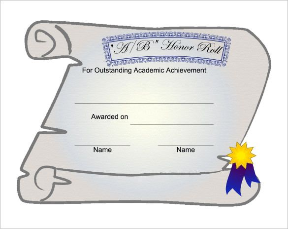 certificate of honor sample