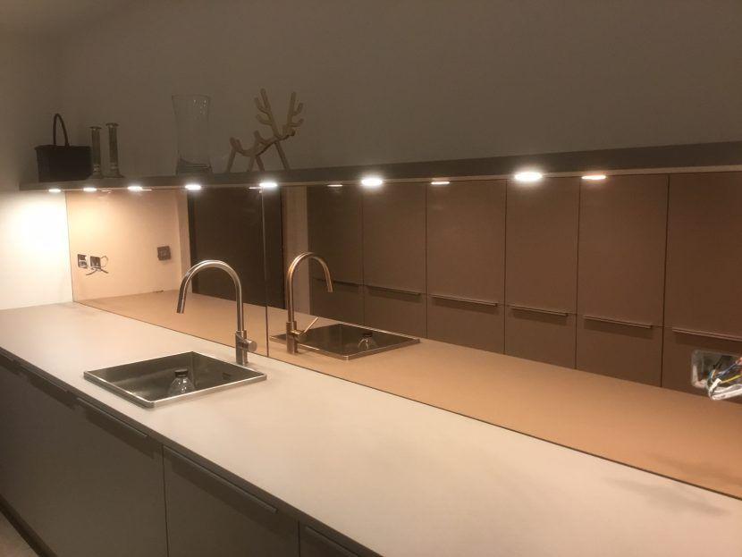 New Copper Mirror | Mirror splashback, Glass splashback ...