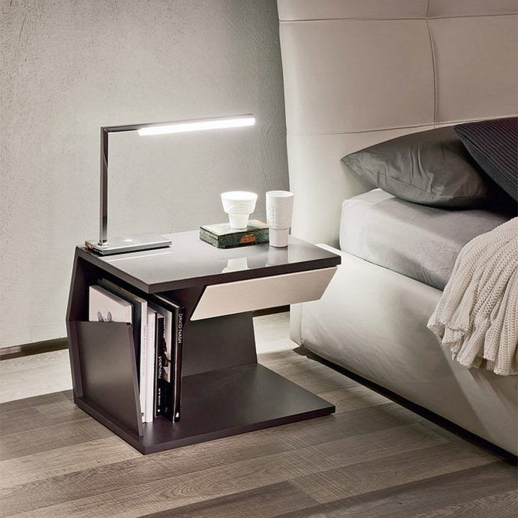 Sleek modern bedside table for the modern bedroomu2026 -- bedroom - brillantes mobeldesign von smania