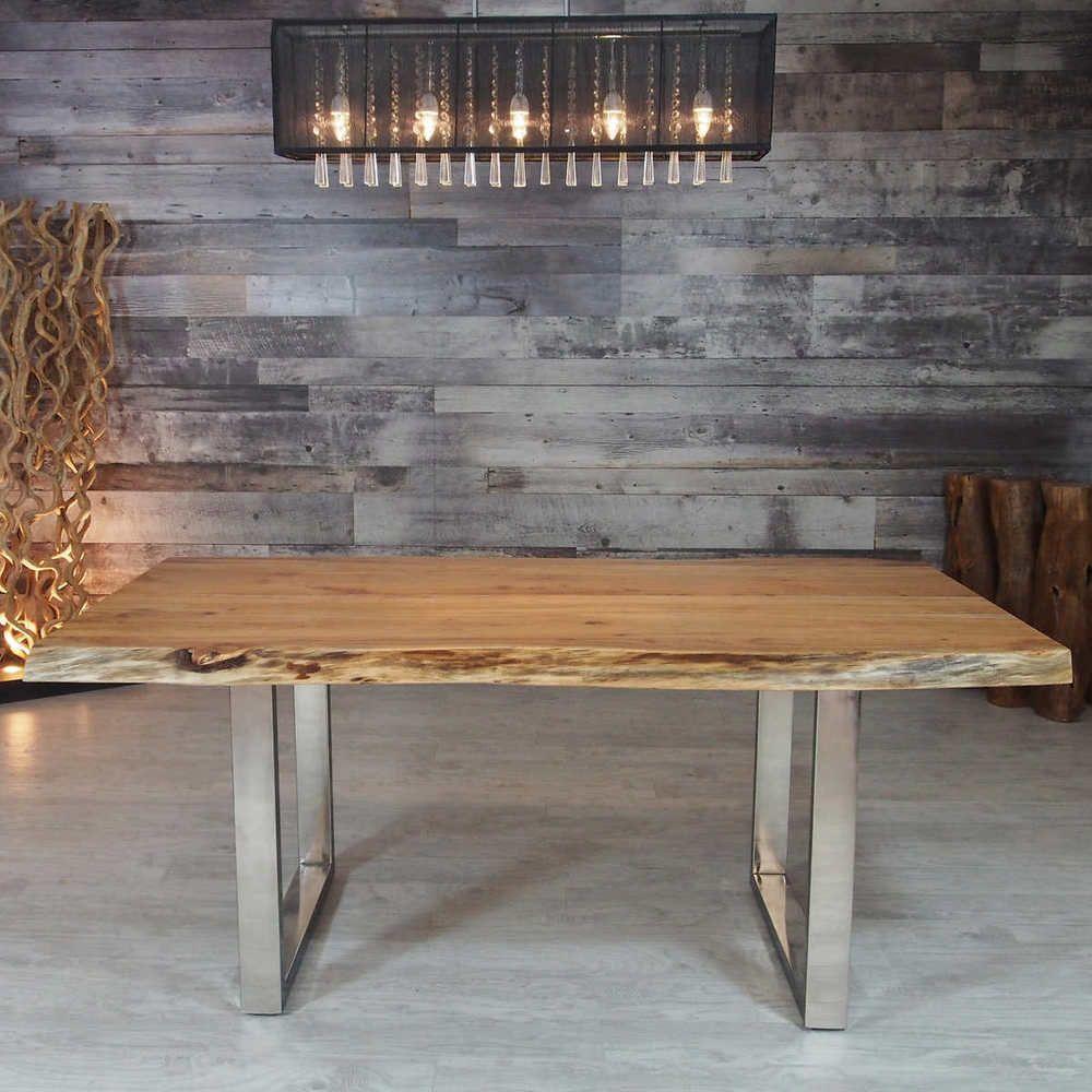 Esstisch Kuchentisch 160x90cm Baumkante Massiv Holz Tisch Holztisch Akazie 26mm Ebay Panca