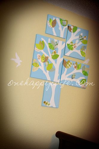 Homemade Nursery Wall Art - Multi-Picture Art DIY | Tree art ...