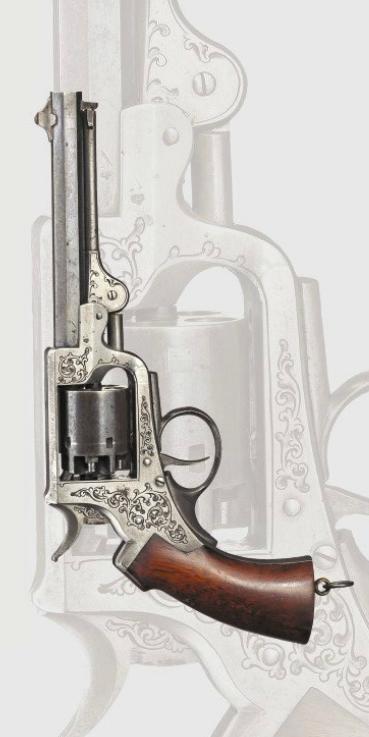 A Stahl percussion test revolver, Hassfurt, ca. 1865.