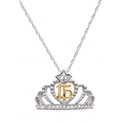 10k Rose Gold Beautiful Filigree Design 15-Anos Quinceanera Pendant Necklace