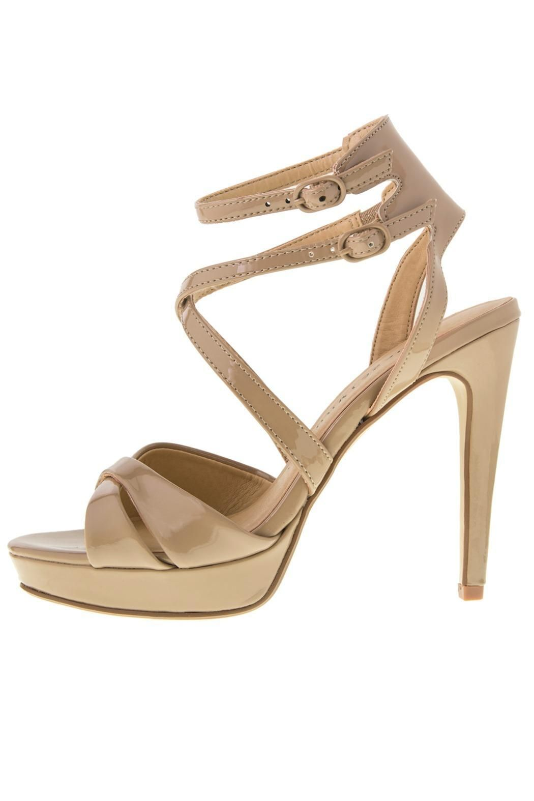 The Highlight platform sandals feature overlapping criss-cross straps and  dual adjustable ankle straps to aa0764f3d951