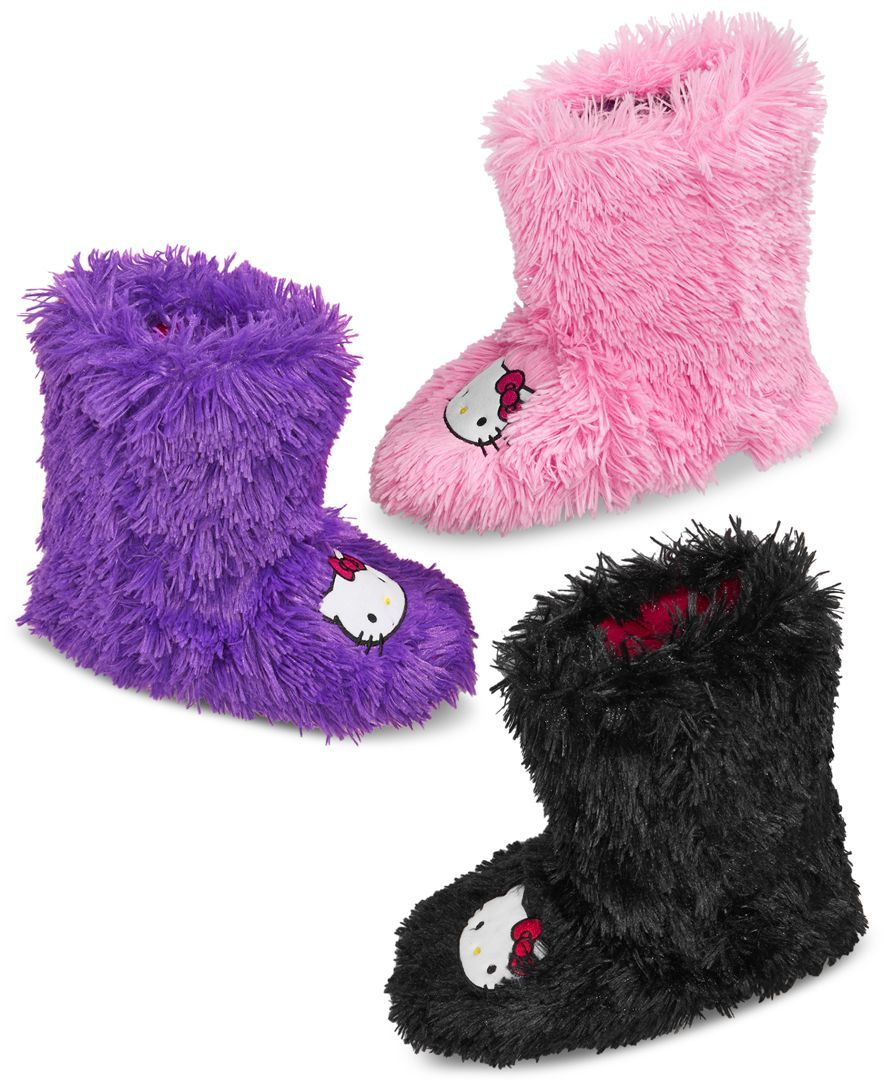 6fe7ea818 Hello Kitty Shag Boot Slipper | HK my main thang... | Hello kitty ...