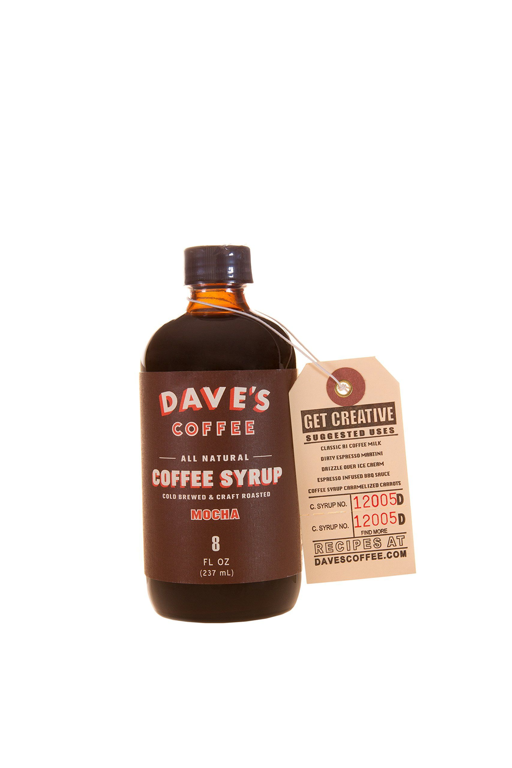 Daves 8 oz mocha all natural cold brewed coffee syrup